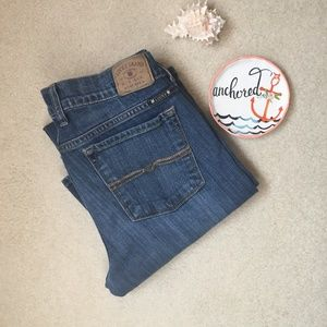 """Lucky Brand """"Charlie Baby Boot"""" Blue Jeans Sz 26"""